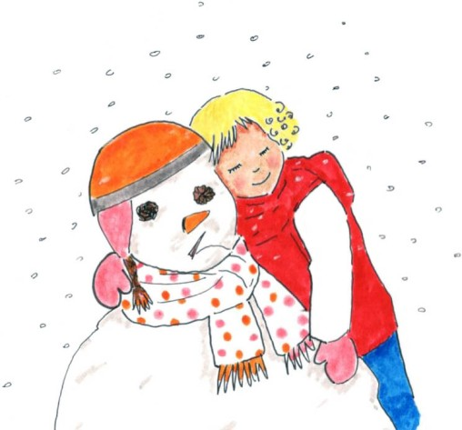 bonhomme de neige et alice