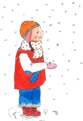 petite fille neige